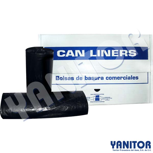 CAN LINERS 44 X 60 BLACK, 1.5 MIL, 100 BAGS