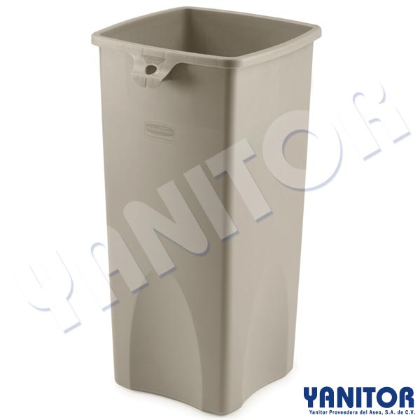 UNTOUCHABLE SQUARE 23 GAL. CONTAINER BEIG